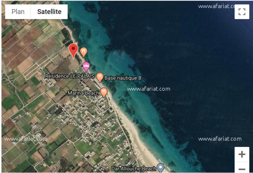 إعلان على أفاريات تونس ل: ارض على البحر دار علوش